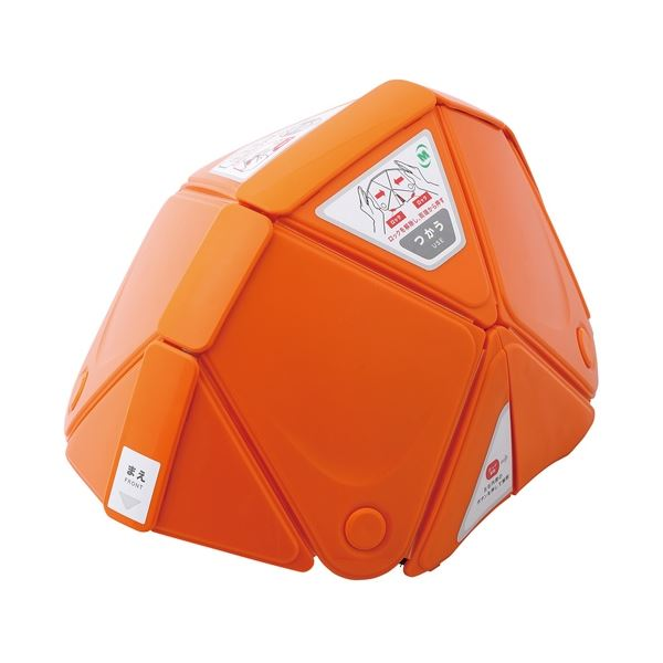 (まとめ)ミドリ安全 フラットメット TSC-10 オレンジ(×3セット)