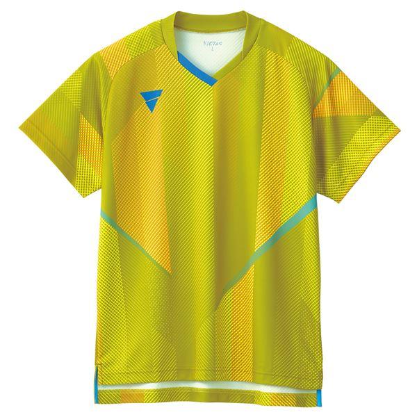 【スーパーセールでポイント最大44倍】VICTAS(ヴィクタス) 卓球ゲームシャツ V-GS203 男女兼用 イエロー 2XL
