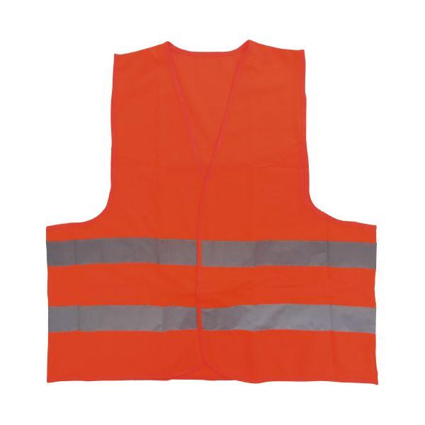 (まとめ)ミドリ安全 高視認性安全ベスト 蛍光オレンジ(×30セット)