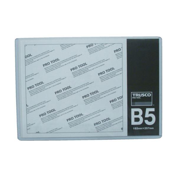 (まとめ) TRUSCO 厚口カードケース B5THCCH-B5 1枚 【×50セット】