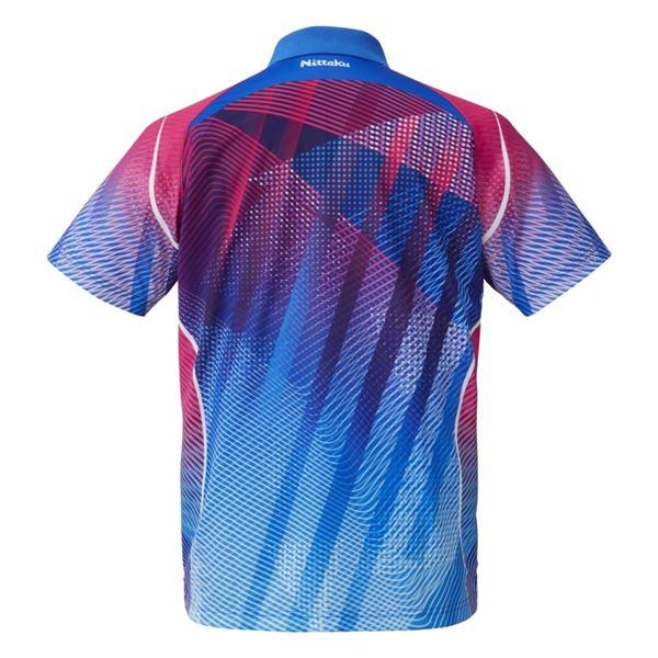 【スーパーセールでポイント最大44倍】Nittaku(ニッタク) 卓球アパレル SIDING SHIRT サイディングシャツ 男女兼用 ブルー XO