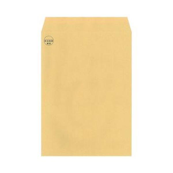 (まとめ)今村紙工 料金後納マーク付 クラフト封筒裏地紋付 角2 テープ付 RKK2-T100 1パック(100枚)【×10セット】