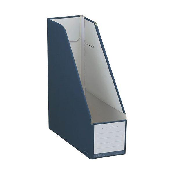 (まとめ) コクヨ ファイルボックス(NEOS)スタンドタイプ A4タテ 背幅102mm ネイビー フ-NEL450DB 1セット(10冊) 【×10セット】