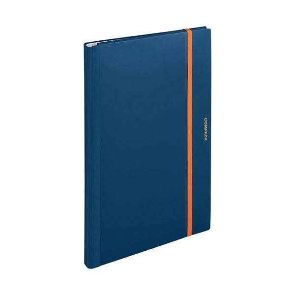 (まとめ) キングジム 二つ折りクリアーファイルコンパック A3 10ポケット ネイビー 5896H 1冊 【×10セット】