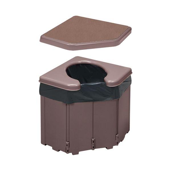 (まとめ)サンコーポータブルコーナートイレR-46(×3セット)