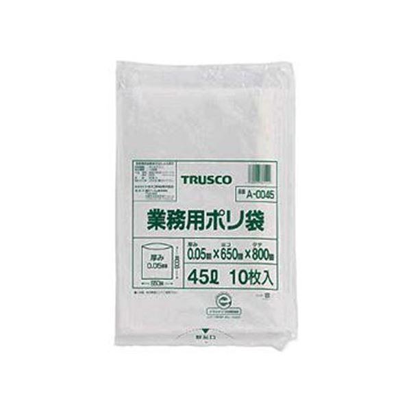 (まとめ)TRUSCO 業務用ポリ袋 厚み0.05×20L A-0020 1パック(10枚)【×20セット】