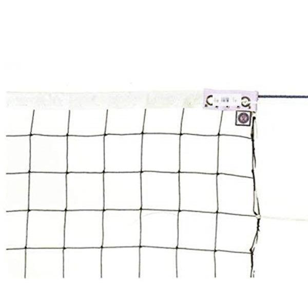 KTネット周囲ロープ式6人制バレーネット日本製【サイズ:巾100cm×長さ9.5×網目10cm】KT4109