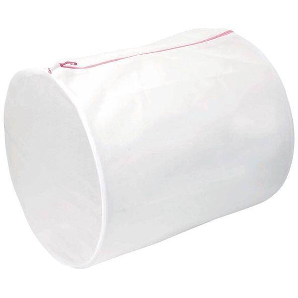 (まとめ) 洗濯ネット/洗濯用品 【筒型】 直径40×55cm 大物洗い・まとめ洗い ガードメッシュネット 【150個セット】