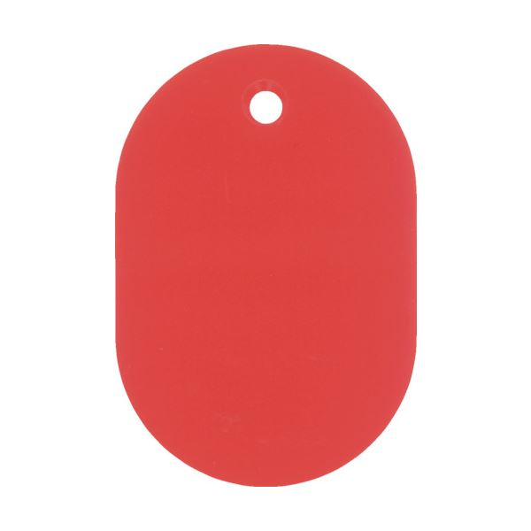 【スーパーセールでポイント最大44倍】(まとめ) 日本緑十字社 小判札(無地札) 赤60×40mm スチロール樹脂 200024 1枚 【×100セット】