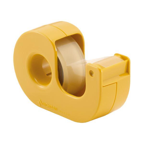 【スーパーセールでポイント最大44倍】(まとめ)ニチバン セロテープ小巻カッター付 CT-15DCY 黄(×50セット)