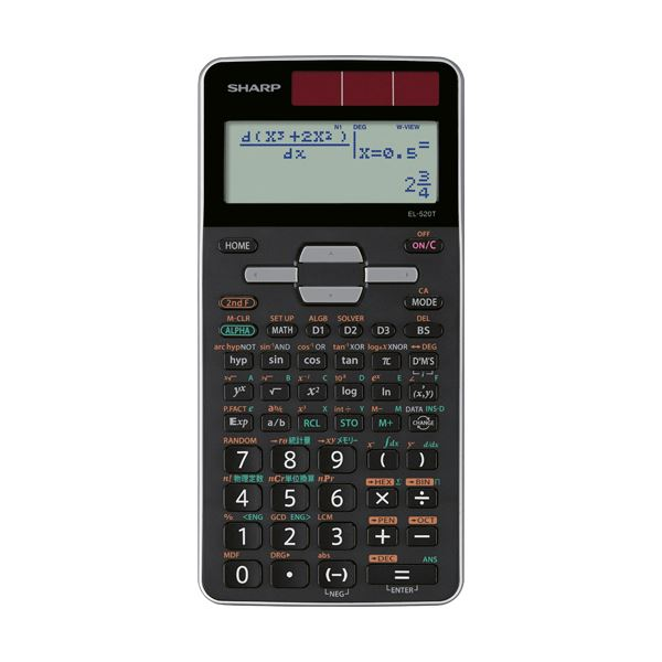 【マラソンでポイント最大43倍】(まとめ)シャープ 関数電卓 ピタゴラスアドバンスモデル 10桁 ハードケース付 EL-520T-X 1台【×2セット】
