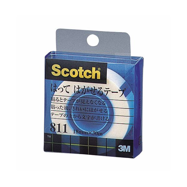 【スーパーセールでポイント最大44倍】(まとめ) 3M スコッチ はってはがせるテープ 811 小巻 18mm×30m クリアケース入 811-1-18C 1巻 【×30セット】