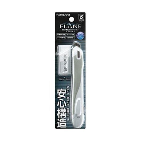(まとめ)コクヨ 安心構造カッターナイフ(フレーヌ)標準型 白 HA-S100W 1セット(10本)【×3セット】