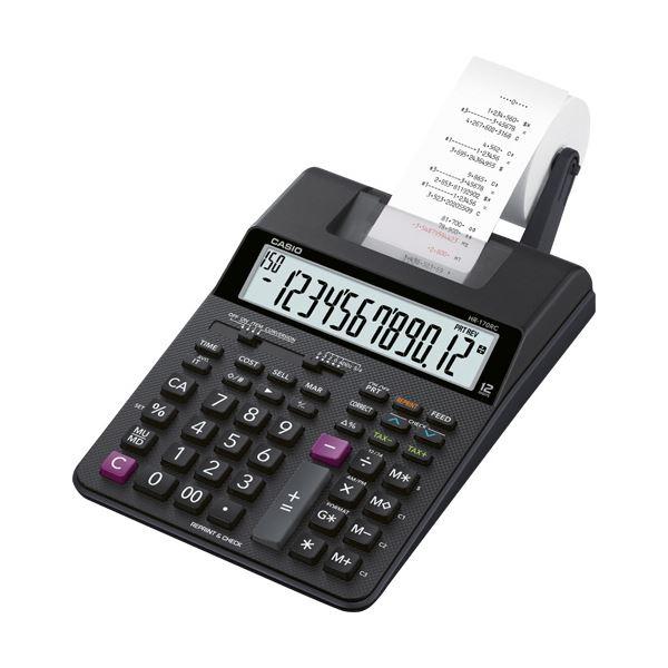 【マラソンでポイント最大43倍】カシオ プリンター電卓 12桁HR-170RC-BK 1台