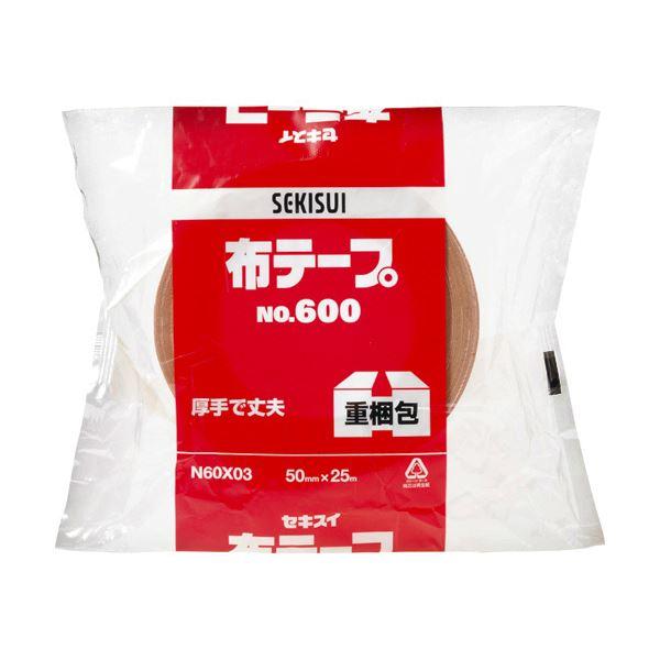 【スーパーセールでポイント最大44倍】(まとめ) 積水化学 布テープ No.600 50mm×25m N60X03 1巻 【×30セット】