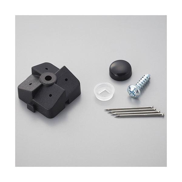 (まとめ) 光 パンチングボードパーツ 石膏ボード用止め具セット 黒 (4組入/パック) PBST-1 1セット(5パック) 【×5セット】