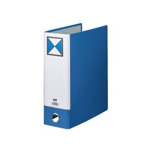 【スーパーセールでポイント最大44倍】(まとめ) TANOSEE 片開きパイプ式ファイルKJ(指かけ穴付) A4タテ 800枚収容 背幅96mm 青 1冊 【×10セット】