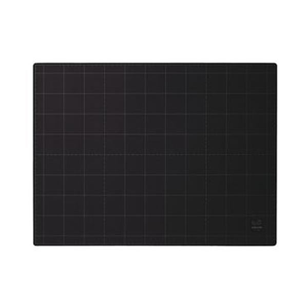 (まとめ)コクヨ カッティングマット(両面仕様)450×600×3mm 黒 マ-43D 1枚【×3セット】