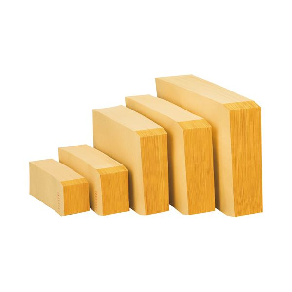 (まとめ) ピース R40再生紙クラフト封筒 長40 70g/m2 〒枠あり 業務用パック 455-80 1箱(1000枚) 【×5セット】