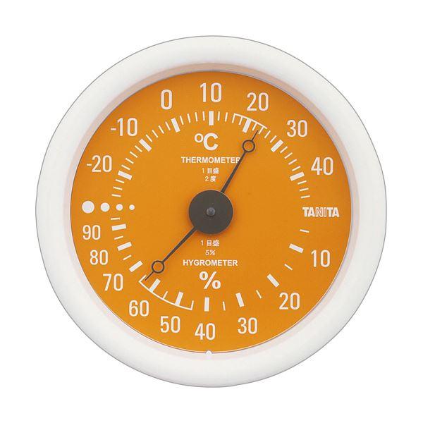 【スーパーセールでポイント最大44倍】(まとめ)タニタ アナログ温湿度計 オレンジTT-515-OR 1個【×5セット】