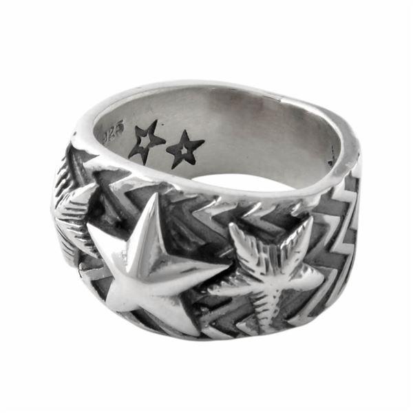 CODY SANDERSON(コディサンダーソン) C2-01-009-7.5 ウエーヴギア スリースター リング 指輪 US7.5 (日本サイズ15号相当) Wave gear 3 star ring 0.5in【代引不可】