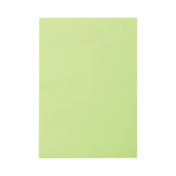 【マラソンでポイント最大44倍】(まとめ) TANOSEE 色画用紙 八つ切 わかくさ 1パック(10枚) 【×50セット】