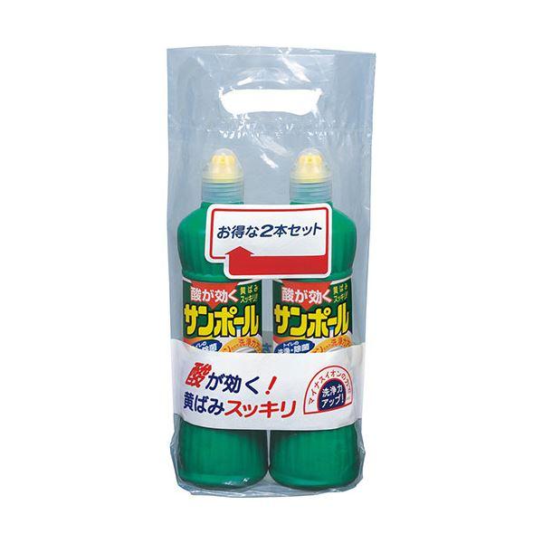 【··で··最大44倍】(まとめ)大日本除蟲菊 KINCHO サンポールトイレ洗剤 尿石除去(500ml×2本)塩酸9.5% 1パック【×10セット】