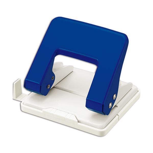 【スーパーセールでポイント最大44倍】(まとめ) ライオン事務器 2穴パンチ 20枚穿孔ブルー BP-20 1台 【×30セット】