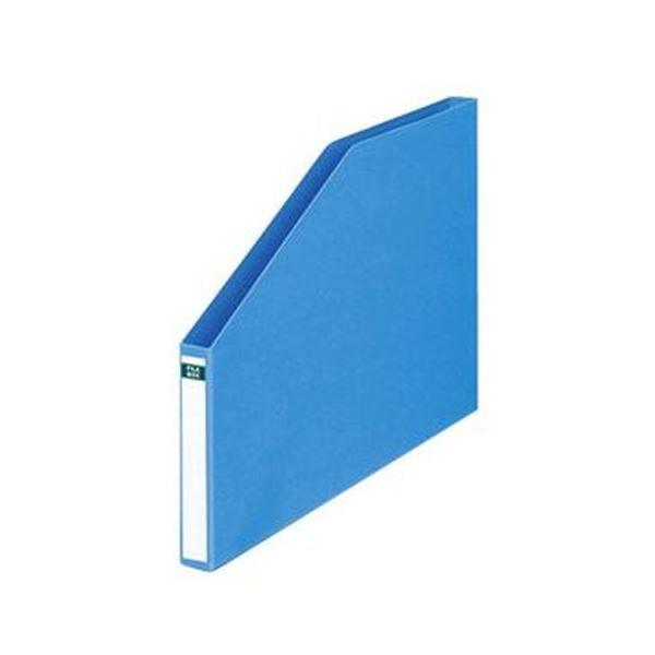 (まとめ)コクヨ ファイルボックス A4ヨコ背幅23mm 青 フ-S456NB 1セット(10冊)【×3セット】