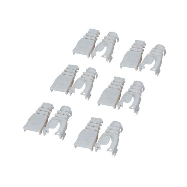 (まとめ) エレコム 後付タイプコネクタ保護カバーベージュ LD-ABBE6 1セット(6個) 【×30セット】