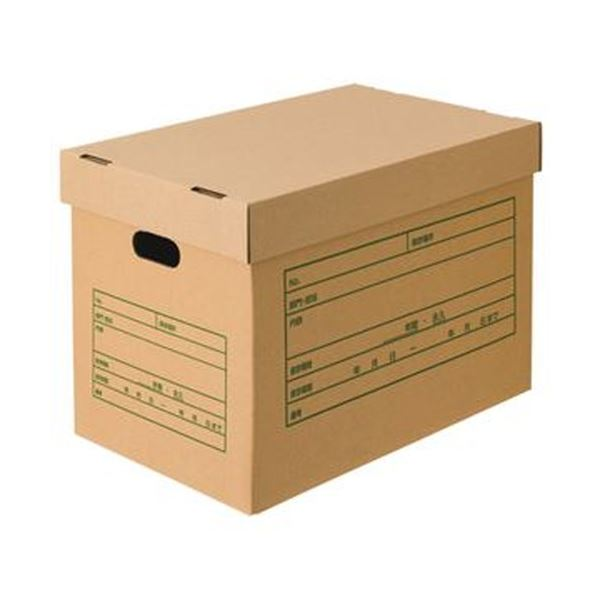 (まとめ)TANOSEE 文書保存箱(フタ式)A3用 1パック(6個)【×5セット】
