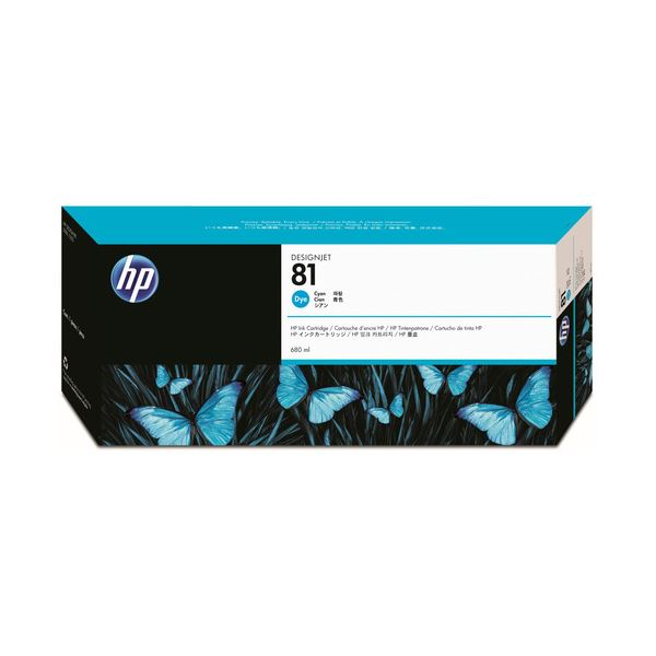 HP HP81 インクカートリッジシアン 染料系 C4931A 1個