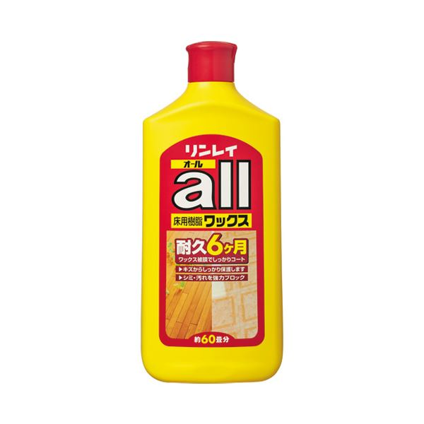 (まとめ) リンレイ リンレイ 床用樹脂ワックス1L 573113【×10セット】