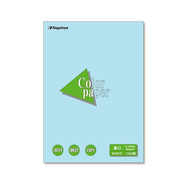 (まとめ) 長門屋商店 Color Paper B4 厚口 空 ナ-2312 1冊(100枚) 【×10セット】