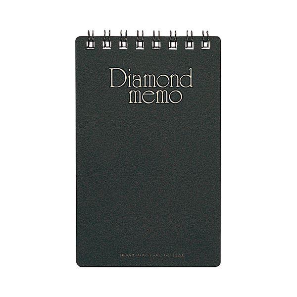 (まとめ) ミドリ ダイヤメモ<M> 黒 19002-011 1セット(10冊) 【×10セット】