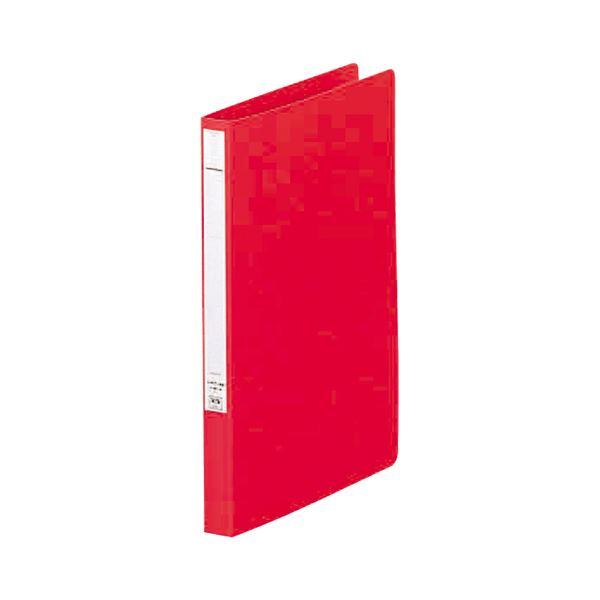 (まとめ) リヒトラブ パンチレスファイル(HEAVY DUTY) A4タテ 160枚収容 背幅25mm 赤 F-367-1 1冊 【×30セット】