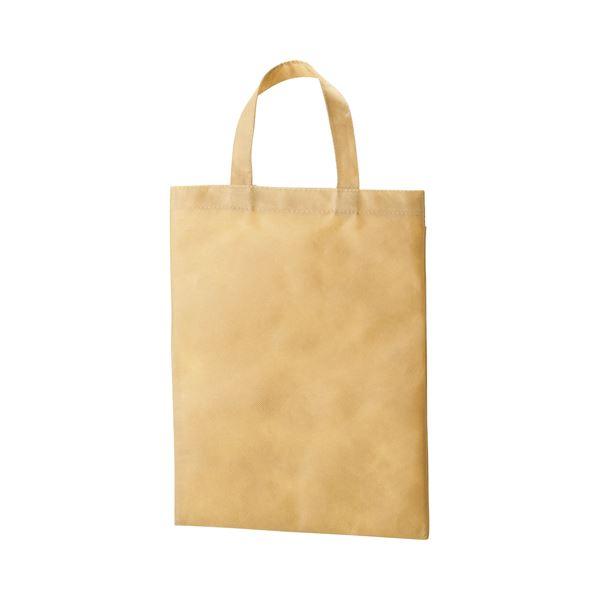 【マラソンでポイント最大44倍】(まとめ) TANOSEE 不織布バッグ A4 マチ無 ヨコ270×タテ350mm ベージュ 1パック(10枚) 【×10セット】
