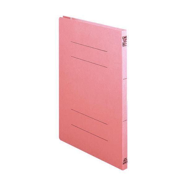 (まとめ) ライオン事務器 2サイズフラットファイルA4タテ 150枚収容 背幅18mm ピンク A-216K 1セット(10冊) 【×10セット】