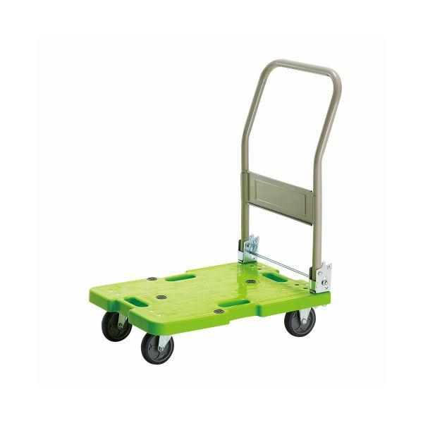 (まとめ)TANOSEE 樹脂運搬車(キャスター標準) W400×D600×H775mm 120kg荷重 1台【×3セット】
