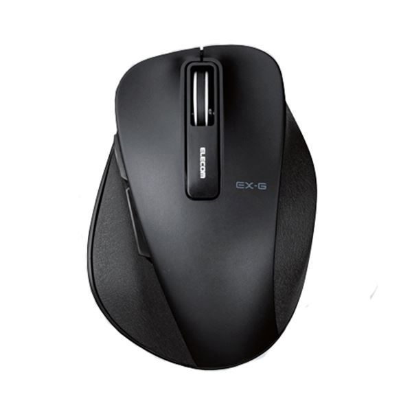 (まとめ) エレコム EX-GワイヤレスBlueLEDマウス Sサイズ ブラック M-XGS10DBBK 1個 【×5セット】