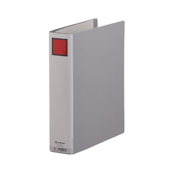 (まとめ) キングファイルG GXシリーズ A4タテ 500枚収容 背幅66mm グレー 975GX 1冊 【×30セット】