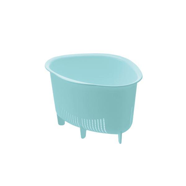 (まとめ) 三角コーナー/生ゴミ入れ 【ミントブルー L】 抗菌加工付き キッチン用品 『シェリー』 【×60個セット】