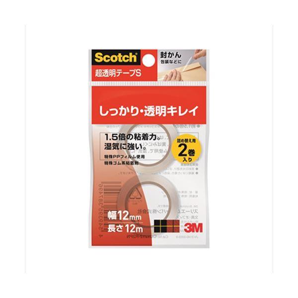 (まとめ)スリーエム ジャパン 超透明テープS 12mm×12m 2巻 CC1212-R2PN【×200セット】