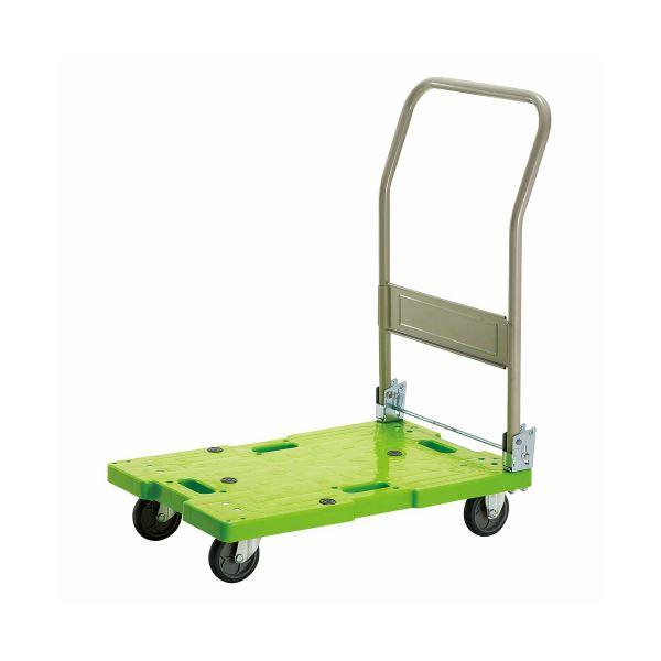 (まとめ)TANOSEE 樹脂運搬車(キャスター標準) W450×D705×H860mm 120kg荷重 1台【×3セット】