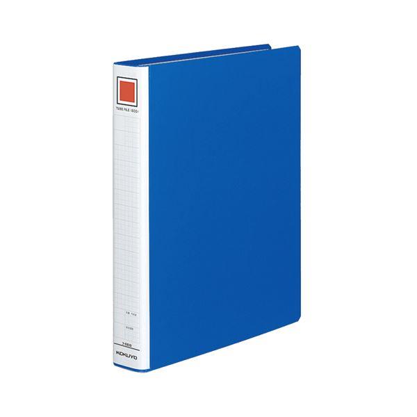 (まとめ) コクヨ チューブファイル(エコ) 片開き A4タテ 300枚収容 背幅45mm 青 フ-E630B 1冊 【×10セット】