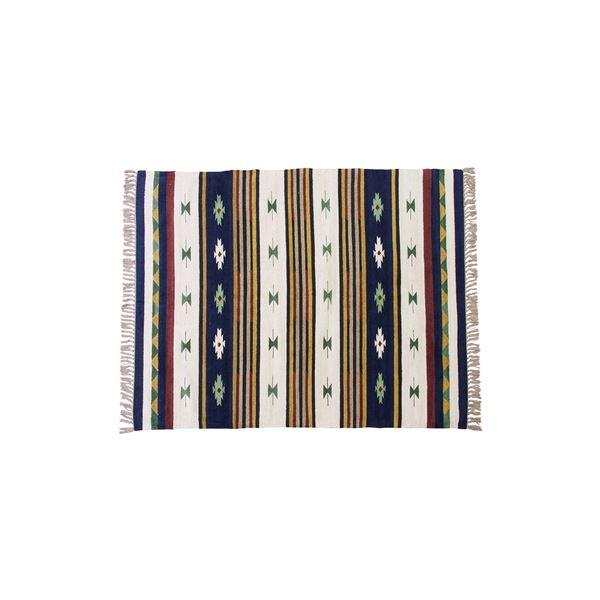 キリム ラグマット/絨毯 【170×230cm TTR-107B】 長方形 綿 インド製 〔リビング ダイニング フロア 居間〕