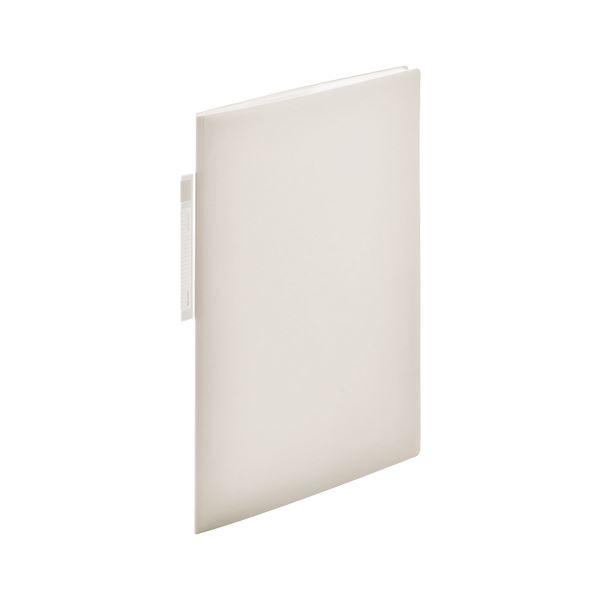 (まとめ) LIHIT LAB クリヤーブック A4 オープンポケット 10ポケット ホワイト【×20セット】