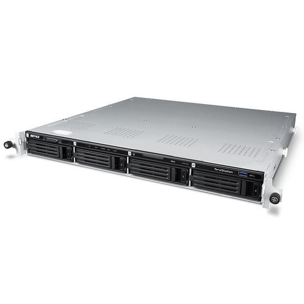 バッファロー Windows Storage Server 2016 Standard Edition搭載 4ベイNAS ラックマウント 24TB WS5400RN24S6