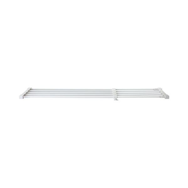 (まとめ) 平安伸銅工業 突っ張り強力伸縮棚 大サイズ ホワイト KB-75 1枚 【×10セット】