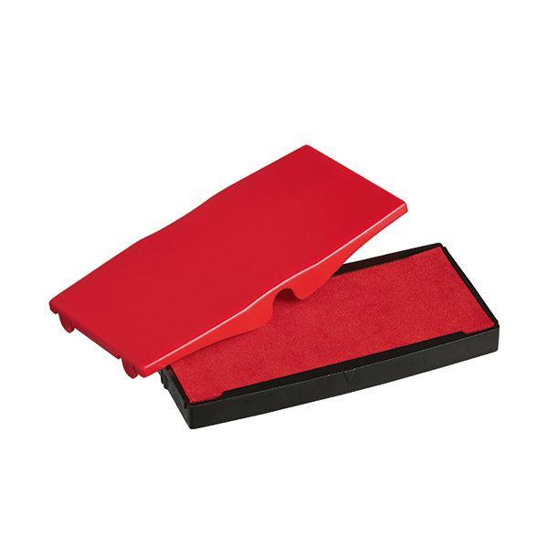 (まとめ) シャイニー スタンプ内蔵型角型印S-855専用パッド 赤 S-855-7R 1個 【×30セット】